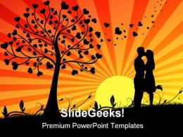 Couple Kissing Wedding PowerPoint Templates And PowerPoint Backgrounds 0311
