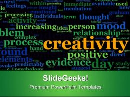 Creativity Business PowerPoint Templates And PowerPoint Backgrounds 0511