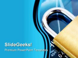 Credit Card Security PowerPoint Template 1110