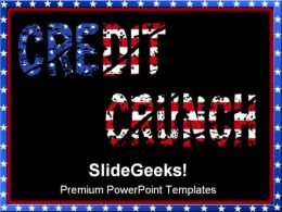 Credit Crunch Americana PowerPoint Templates And PowerPoint Backgrounds 0711