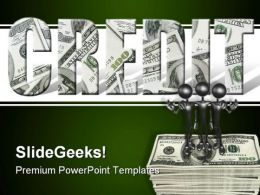 Credit Money PowerPoint Template 0610