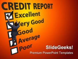 Credit Report Business PowerPoint Templates And PowerPoint Backgrounds 0211