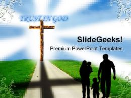 Cross01 Family Religion PowerPoint Template 0610