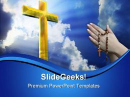Cross In Heaven Religion PowerPoint Templates And PowerPoint Backgrounds 0811