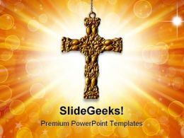 Cross Religion PowerPoint Templates And PowerPoint Backgrounds 0611