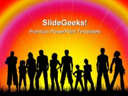 Crowd Of People PowerPoint Backgrounds And Templates 0111