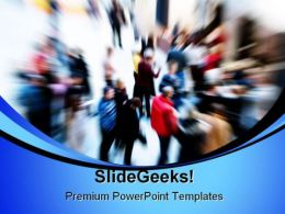 Crowd People PowerPoint Template 1110