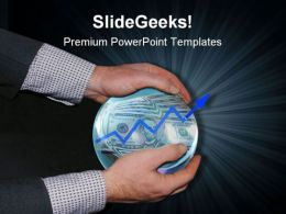 Crystal Ball Showing Success Business PowerPoint Templates And PowerPoint Backgrounds 0611