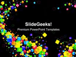 Cube Flow Shapes PowerPoint Templates And PowerPoint Backgrounds 0411