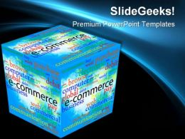 Cube Shapes Metaphor PowerPoint Backgrounds And Templates 1210