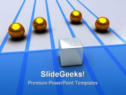 Cube Spheres Competition Business PowerPoint Templates And PowerPoint Backgrounds 0311