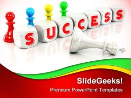 Cubes Success Communication PowerPoint Backgrounds And Templates 0111