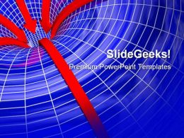 Curved Space Business PowerPoint Backgrounds And Templates 1210