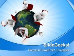 Customer Support Network Globe PowerPoint Templates And PowerPoint Backgrounds 0611