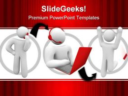 Customer Support People PowerPoint Template 0910
