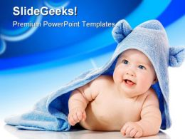 Cute Baby Children PowerPoint Template 0810