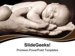 Daddy Hands Children PowerPoint Templates And PowerPoint Backgrounds 0511