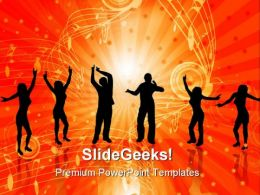 Dancers Music PowerPoint Templates And PowerPoint Backgrounds 0711