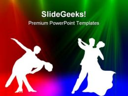 Dancing Couple Background PowerPoint Templates And PowerPoint Backgrounds 0411