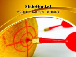 Darts01 Business PowerPoint Templates And PowerPoint Backgrounds 0811