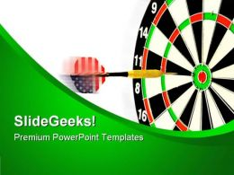 Darts Americana PowerPoint Templates And PowerPoint Backgrounds 0811