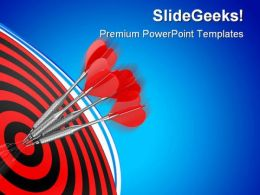 Darts Business PowerPoint Templates And PowerPoint Backgrounds 0811