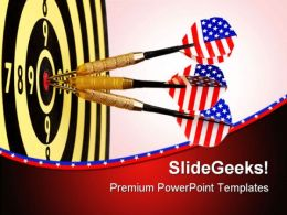 Darts On Target Americana PowerPoint Templates And PowerPoint Backgrounds 0811