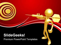 Darts Target Business PowerPoint Templates And PowerPoint Backgrounds 0611