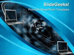 Data Flow Computer PowerPoint Background And Template 1210