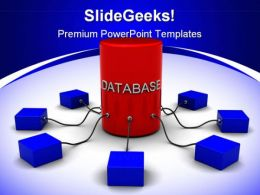 Database Internet PowerPoint Background And Template 1210