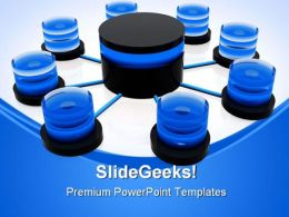 Database Structure Network Business PowerPoint Templates And PowerPoint Backgrounds 0411