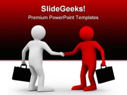 Deal Handshake Business PowerPoint Templates And PowerPoint Backgrounds 0811