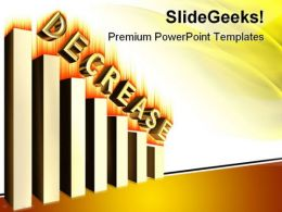 Decrease Graph Business PowerPoint Templates And PowerPoint Backgrounds 0611