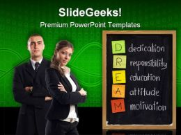Dedication Responsibility Business PowerPoint Templates And PowerPoint Backgrounds 0811
