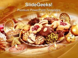Delicious Christmas Cookie Holidays PowerPoint Templates And PowerPoint Backgrounds 0211