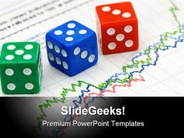 Dices On Financial Graph Business PowerPoint Templates And PowerPoint Backgrounds 0511