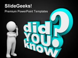 Did You Know Communication PowerPoint Templates And PowerPoint Backgrounds 0611