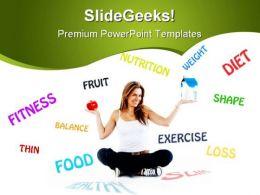 Dieting Food Health PowerPoint Template 0910