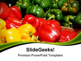 Different Capsicums Food PowerPoint Templates And PowerPoint Backgrounds 0311