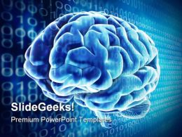 Digital Brain Science PowerPoint Backgrounds And Templates 0111