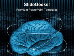 Digital Brain Science PowerPoint Templates And PowerPoint Backgrounds 0611