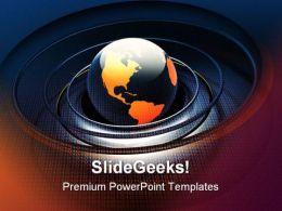Digital Globe Business PowerPoint Template 0510