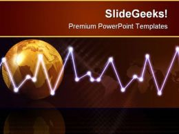 Digital Globe Waves Background PowerPoint Templates And PowerPoint Backgrounds 0611