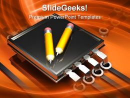 Digital Writing Technology PowerPoint Templates And PowerPoint Backgrounds 0311