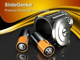 Discarding Batteries Technology PowerPoint Templates And PowerPoint Backgrounds 0211