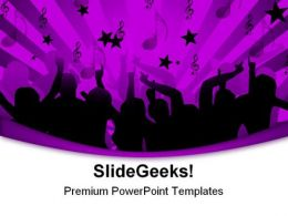 Disco Dancers Music PowerPoint Templates And PowerPoint Backgrounds 0311