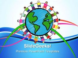 Diversity Kids Global PowerPoint Templates And PowerPoint Backgrounds 0611