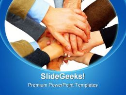 Diversity Of People Handshake PowerPoint Templates And PowerPoint Backgrounds 0811
