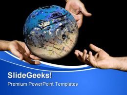 Divine Offert Globe PowerPoint Templates And PowerPoint Backgrounds 0611