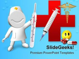 Doctor With Thermometer Hospitality PowerPoint Templates And PowerPoint Backgrounds 0211
